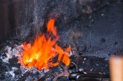 Le feu de forge Photos libres de droits