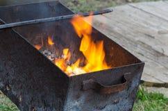 Le feu de gril Image stock