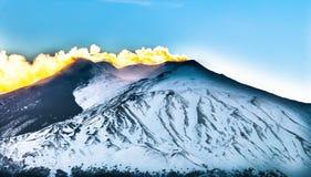 Le feu de l'Etna ! Photos libres de droits