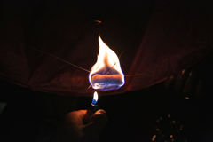 Le feu de lanterne Photographie stock
