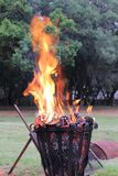 Le feu de Matts le week-end loin photo stock