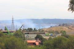 Le feu de mine de charbon Photos stock