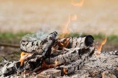 Le feu de pique-nique Photo libre de droits