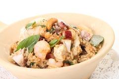 Le feu de riz de fruits de mer avec épicé Photographie stock