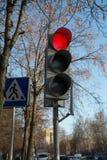 Le feu de signalisation Images libres de droits