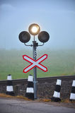 Le feu de signalisation montre le signal blanc Photo stock