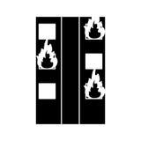 Le feu de silhouette établissant l'urgence résidentielle illustration libre de droits