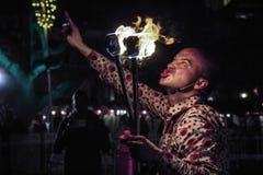 Le feu de soufflement Image libre de droits