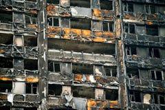 Le feu de tour de Grenfell Image stock