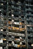 Le feu de tour de Grenfell Image libre de droits