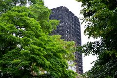 Le feu de tour de Grenfell Photo libre de droits