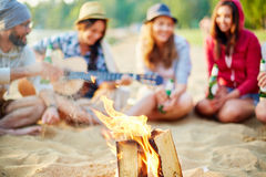 Le feu de touristes Image libre de droits