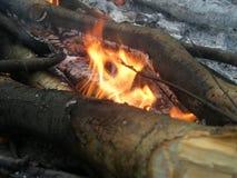 Le feu dehors Image libre de droits