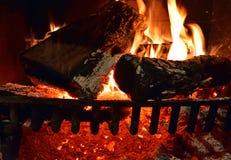 Le feu en bois Backgroun Photographie stock libre de droits