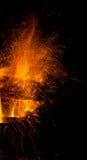 Le feu en bois Photographie stock