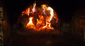 Le feu en cheminée photo stock