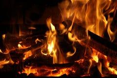 Le feu en cheminée Image stock
