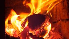 Le feu en cheminée photos libres de droits
