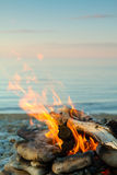 Le feu en mer Images stock