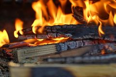 Le feu et braise 2 image libre de droits