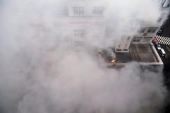 Le feu et fumée Images libres de droits