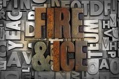 Le feu et glace Photo libre de droits