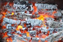 Le feu et le fond de cendres Images libres de droits