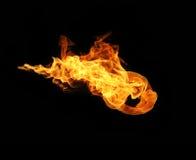 Le feu flambe la collection d'isolement sur le fond noir image stock