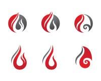Le feu flambe le calibre de logo illustration de vecteur