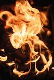 Le feu les flammes du feu se ferment  images stock