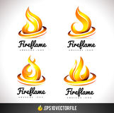 Le feu Logo Icon Conception de vecteur de flamme Images stock