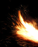 Le feu miroitant photo libre de droits