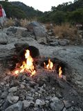 Le feu naturel Turquie photographie stock