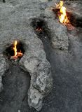 Le feu naturel Turquie image libre de droits