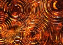 Le feu ondule des milieux de vagues illustration de vecteur