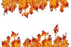 le feu ou flamme enflammée i de jaune, orange et rouge et rouge du feu de mur, Images libres de droits