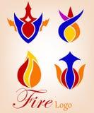 Le feu ou flamme Logo Company Images libres de droits