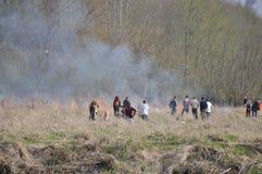 Le feu par la Vistule Photos libres de droits