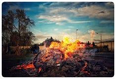 Le feu peut dedans Photo stock