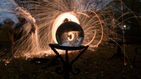 Le feu POI Photos libres de droits