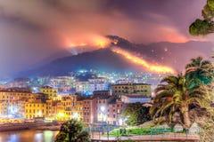 Le feu provoqué par sécheresse Photographie stock libre de droits