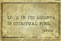 Le feu spirituel Sénèque photographie stock