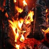 Le fiamme del fuoco Fotografia Stock Libera da Diritti