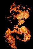 Le fiamme infornano sviluppato in una figura fantastica Fotografia Stock Libera da Diritti