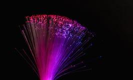 Le fibre ottiche accende il fondo astratto, fondo ottico della fibra Immagini Stock Libere da Diritti