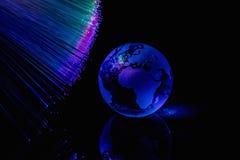 Le fibre ottiche accende il fondo astratto, fondo ottico della fibra Immagine Stock Libera da Diritti