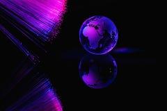 Le fibre ottiche accende il fondo astratto, fondo ottico della fibra Fotografia Stock Libera da Diritti