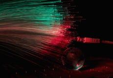 Le fibre ottiche accende il fondo astratto, fondo ottico della fibra Fotografie Stock