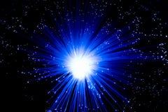 Le fibre ottiche blu Immagini Stock