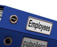 Le fichier des employés contient des enregistrements d'emploi Images libres de droits